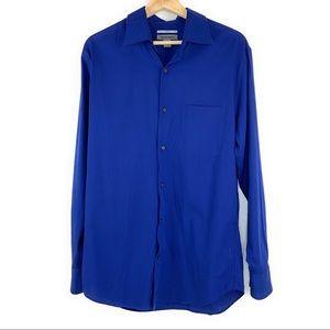 Johnston & Murphy Royal Blue Button Down Shirt